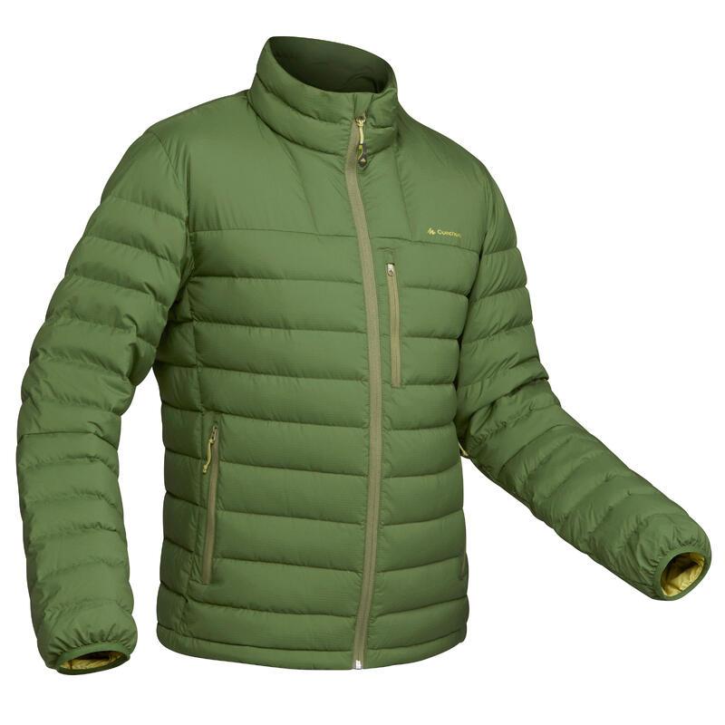 Donsjas voor bergtrekking heren Trek 500 -10°C groen