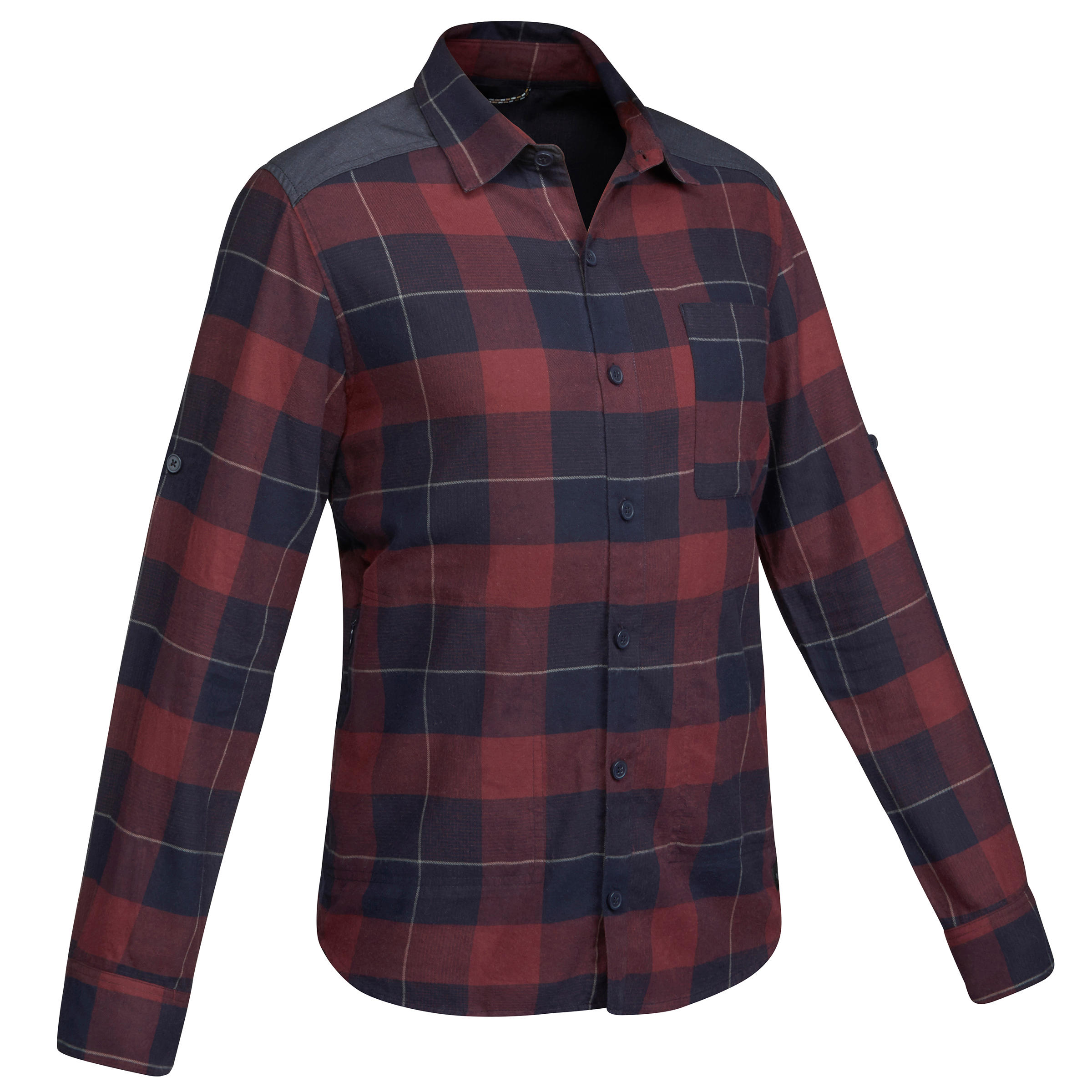 Travel100 Warm Men's Trekking Shirt - Burgundy