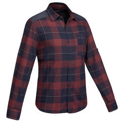 Men's Trekking Shirt Travel100 Warm - Burgundy