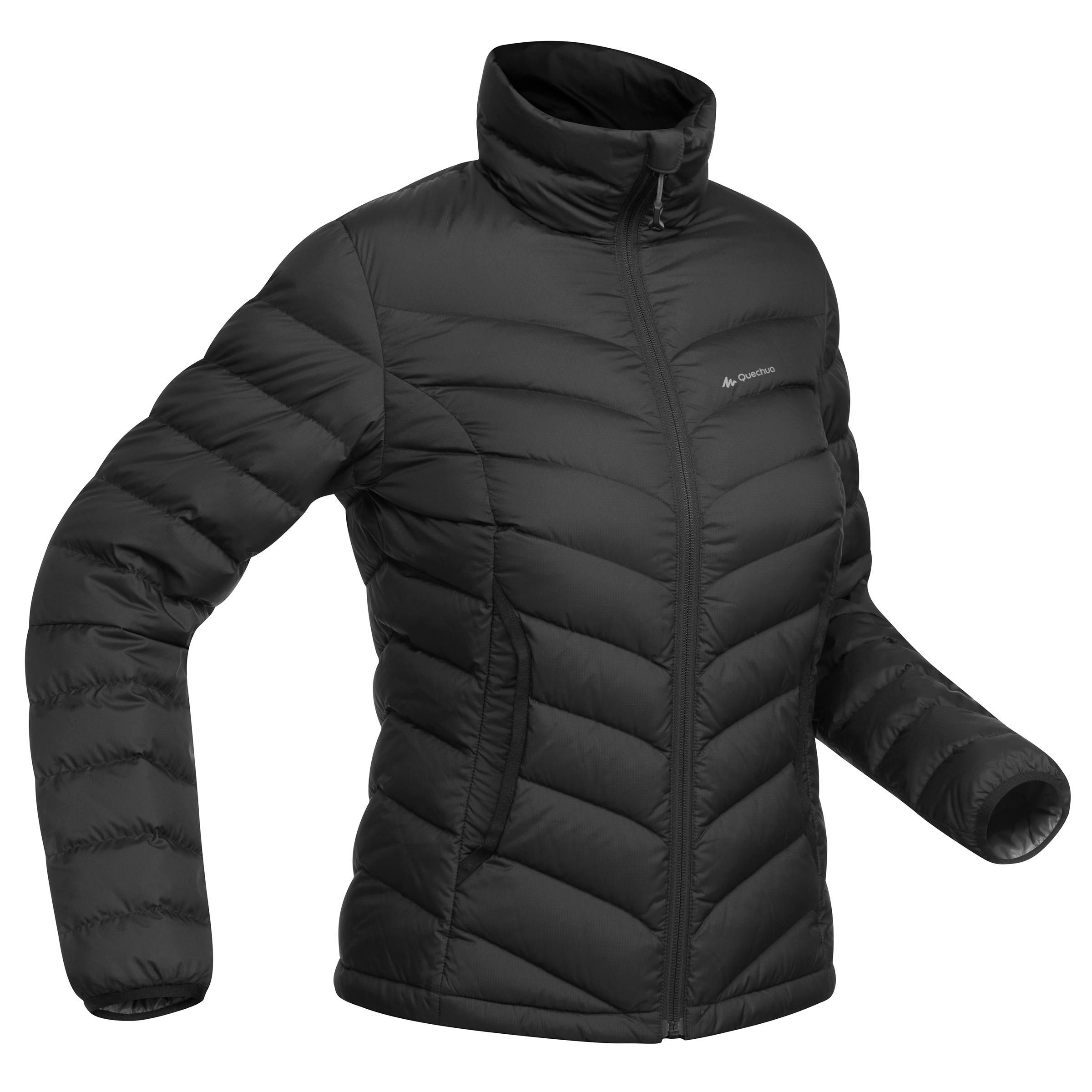 colección de descuento nueva apariencia más popular Abrigo Chaqueta Plumón Montaña y Trekking Forclaz TREK500 Acolchada Mujer  Negro