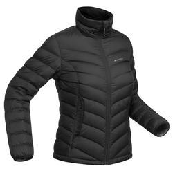 Abrigo Chaqueta Plumón Montaña y Trekking Forclaz TREK500 Acolchada Mujer Negro
