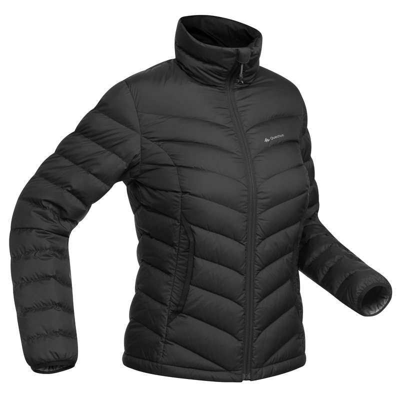 WOMEN DOWN JACKET, VEST MOUNTAIN TREK Trekking - W down jacket TREK500 - BLACK FORCLAZ - Trekking