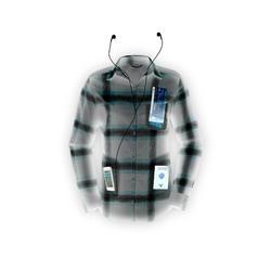 Camisa montaña y trekking FORCLAZ TRAVEL 100 warm cuadros Mujer gris