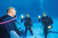 Men's SCD 100 3 mm diving wetsuit with back zip