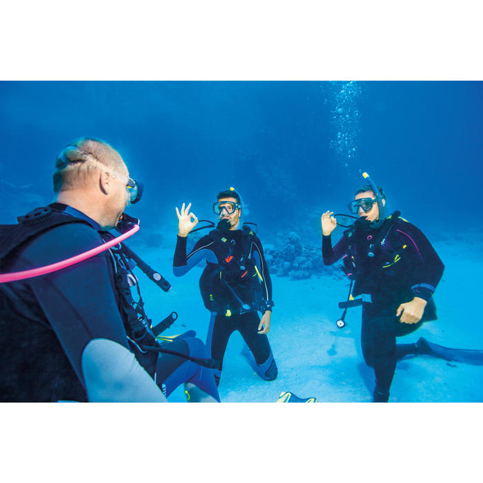 男款背部拉鍊潛水服SCD100 3mm
