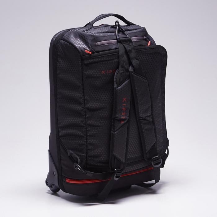 Sac de sports collectifs à roulettes Away 35 litres noir rouge - 1484302