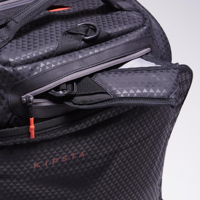 Sac de sports collectifs à roulettes Away 35 litres noir rouge - 1484303