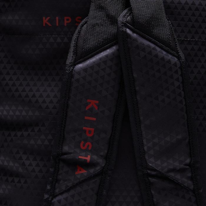 Sac de sports collectifs à roulettes Away 35 litres noir rouge - 1484304