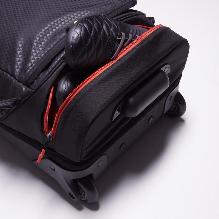 Sac de sports collectifs à roulettes Away 35 litres noir rouge - 1484305