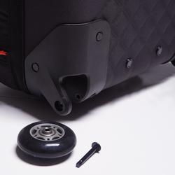 Bolsa con ruedas trolley Intensif 30 litros negro rojo