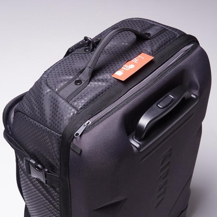 Sporttas op wieltjes Intensif 65 liter zwart rood
