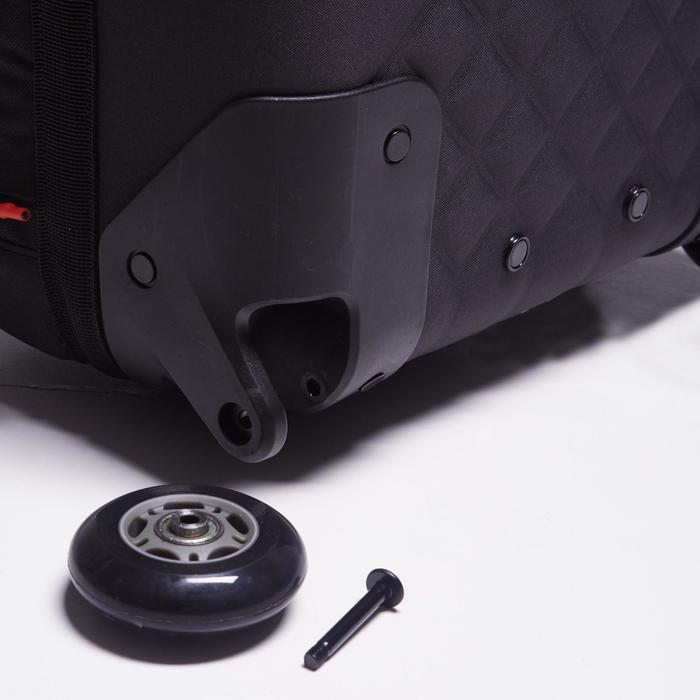 Sac de sports collectifs à roulettes Away 65 litres noir rouge - 1484326