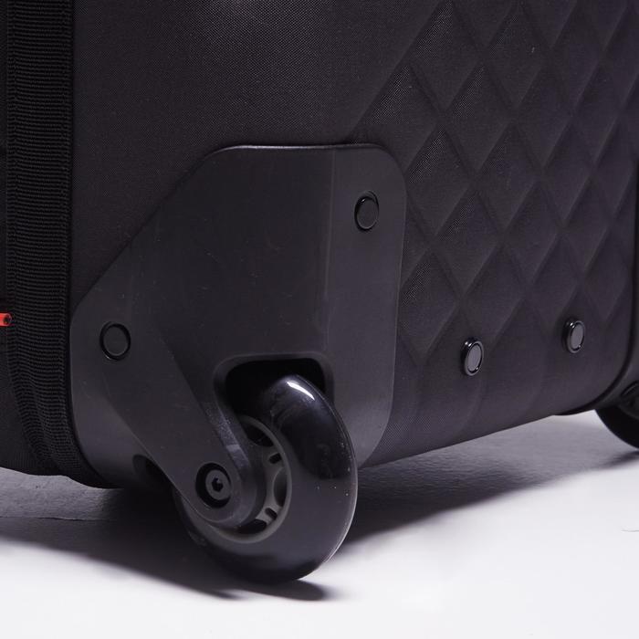 Sac de sports collectifs à roulettes Away 65 litres noir rouge - 1484334