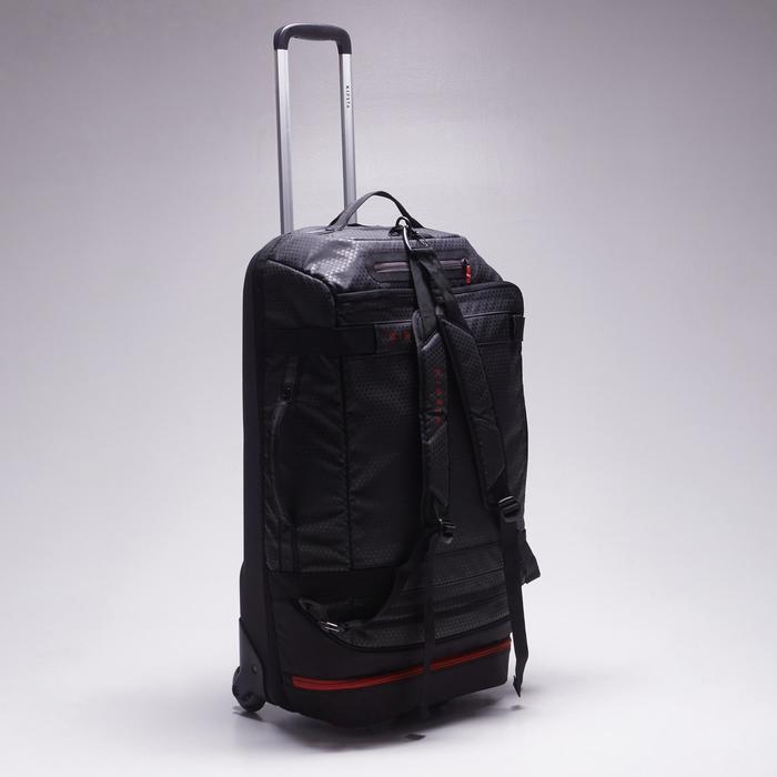 Sac de sports collectifs à roulettes Away 65 litres noir rouge - 1484335