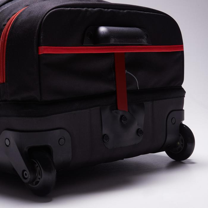 Sac de sports collectifs à roulettes Away 65 litres noir rouge - 1484338
