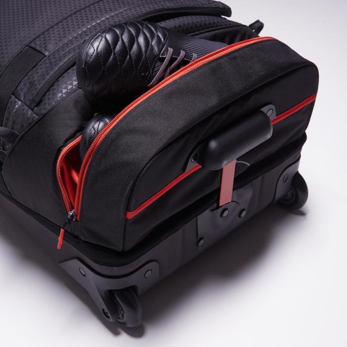 Sac de sports collectifs à roulettes Away 65 litres noir rouge - 1484339