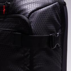 Bolsa de deporte con ruedas trolley Intensif 90 litros negro rojo
