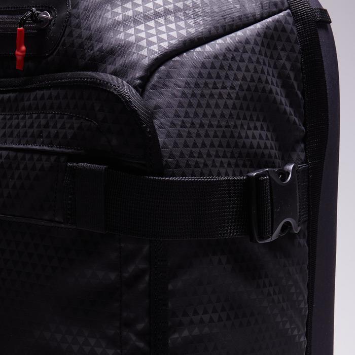 Sporttasche mit Rollen Trolley Intensive 90l schwarz/rot