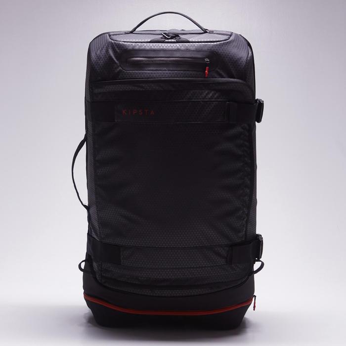 滾輪式運動包Intensive 90 L-黑色/紅色
