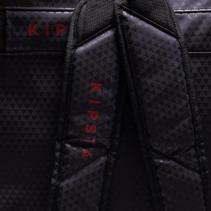 Sac de sports collectifs à roulettes Away 90 litres noir rouge - 1484345
