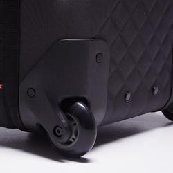 Sporttas met wieltjes Away 90 liter zwart/rood