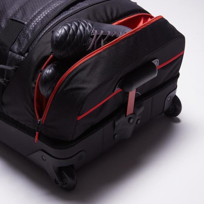 Sac de sports collectifs à roulettes Away 90 litres noir rouge - 1484349