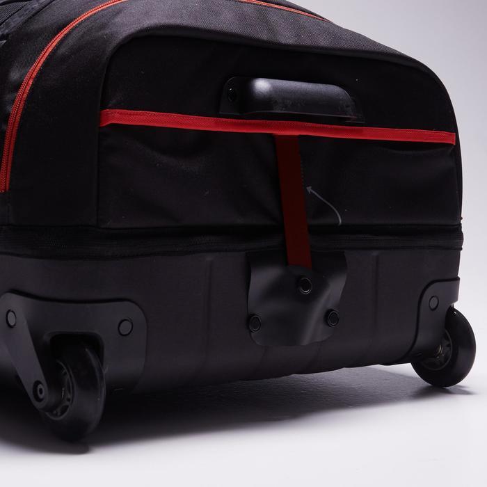 Sac de sports collectifs à roulettes Away 90 litres noir rouge