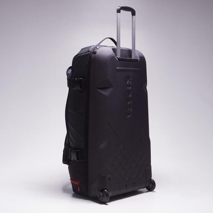 Sac de sports collectifs à roulettes Away 90 litres noir rouge - 1484354