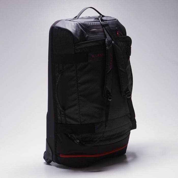 Sac de sports collectifs à roulettes Away 90 litres noir rouge - 1484355