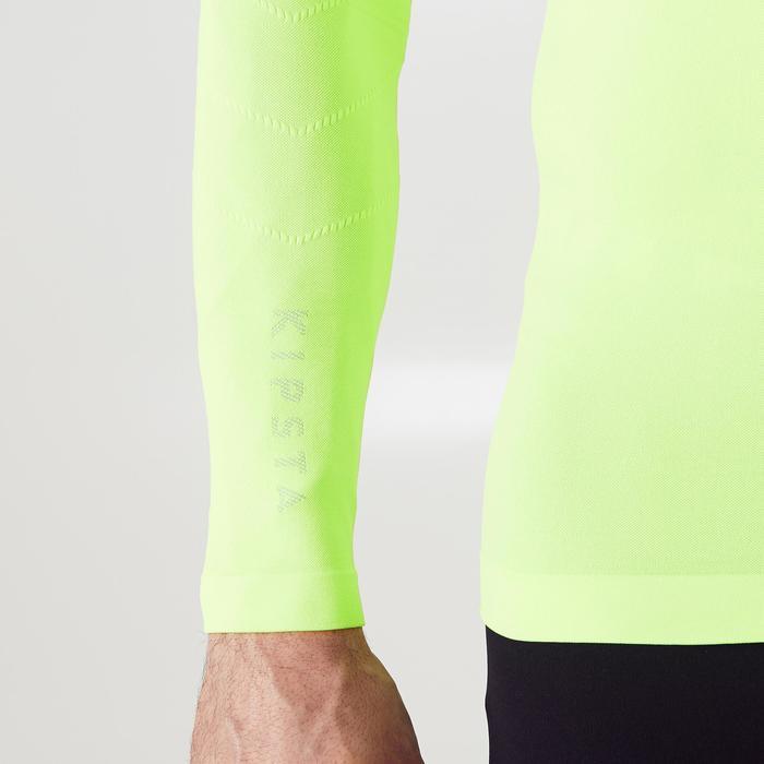 Thermoshirt Keepdry 500 met lange mouwen fluogeel unisex