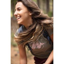 Tee shirt randonnée nature femme NH500 gris foncé chiné