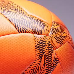 Fussball Society 100 Kleinfeld Größe 4 orange/schwarz