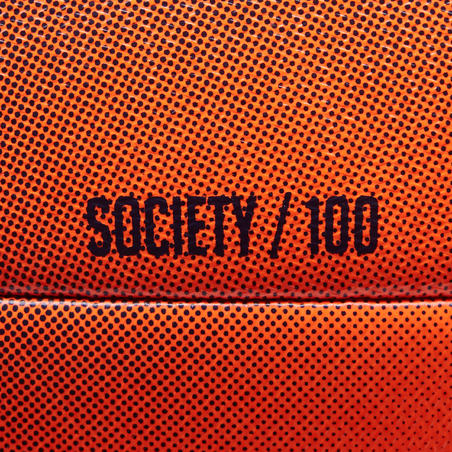 Society 100 5-A-Side Football Size 4 - Orange/Black