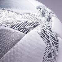Balón Fútbol 5 Society 100 Híbrido talla 5 blanco gris