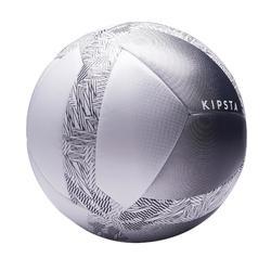 Ballon de Foot5 Society 100 taille 5 Blanc / Gris
