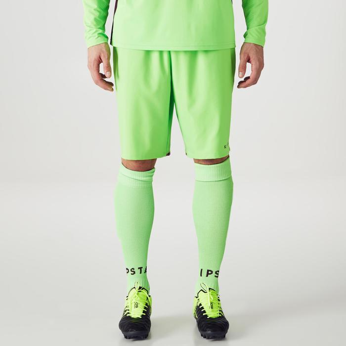 Pantalón Corto Portero Fútbol FGKS500 Adulto Verde