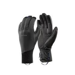 Winddichte handschoenen voor bergtrekking Trek 900 volwassenen grijs