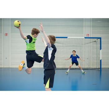 Maillot de handball enfant H100 bleu marine/jaune