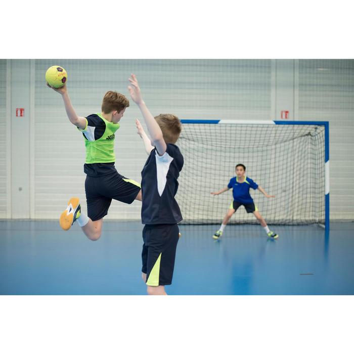 Maillot de handball enfant H100 bleu marine / jaune