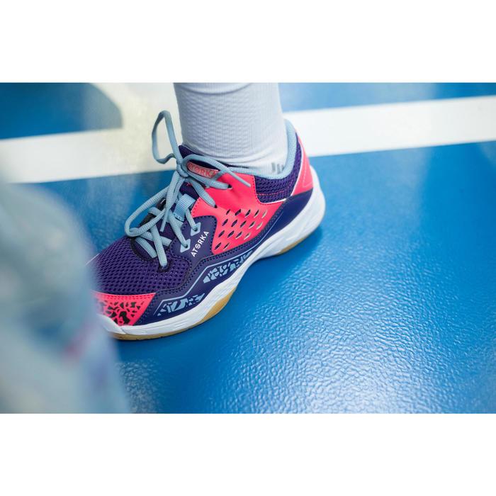 Chaussures de Handball H100 fille avec lacets violettes et roses - 1484724