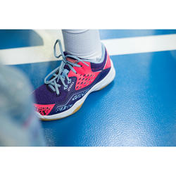 Handballschuhe H100 mit Schnürsenkeln Kinder lila/rosa