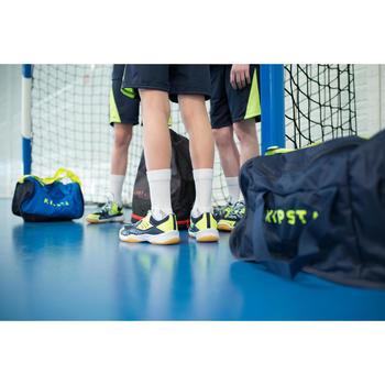 Handballschuhe H100 mit Schnürung blau/gelb