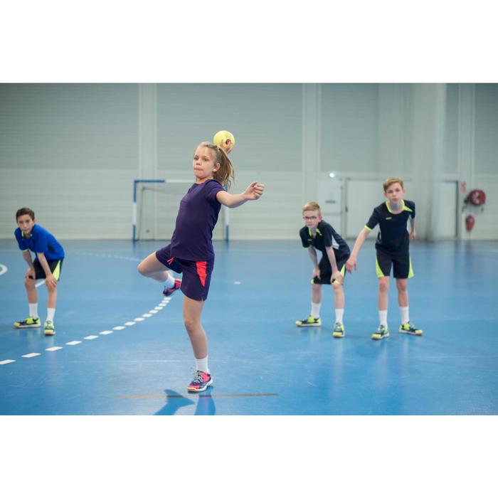 Chaussures de Handball H100 fille avec lacets violettes et roses - 1484733