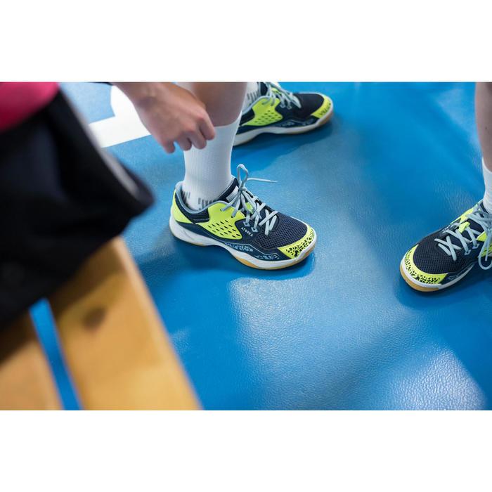 Chaussures de Handball H100 fille avec lacets violettes et roses - 1484744
