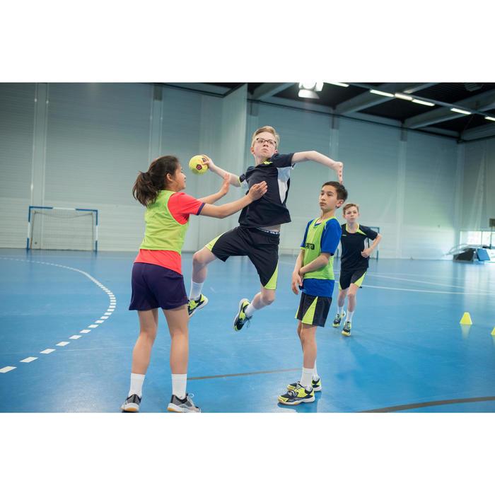 Handballshorts H100 Kinder blau/grün
