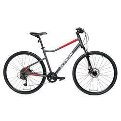 700C Riverside 500 Hybrid Bike Aluminium - Grey