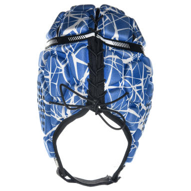rugbyhelm full h 500 blauw/wit
