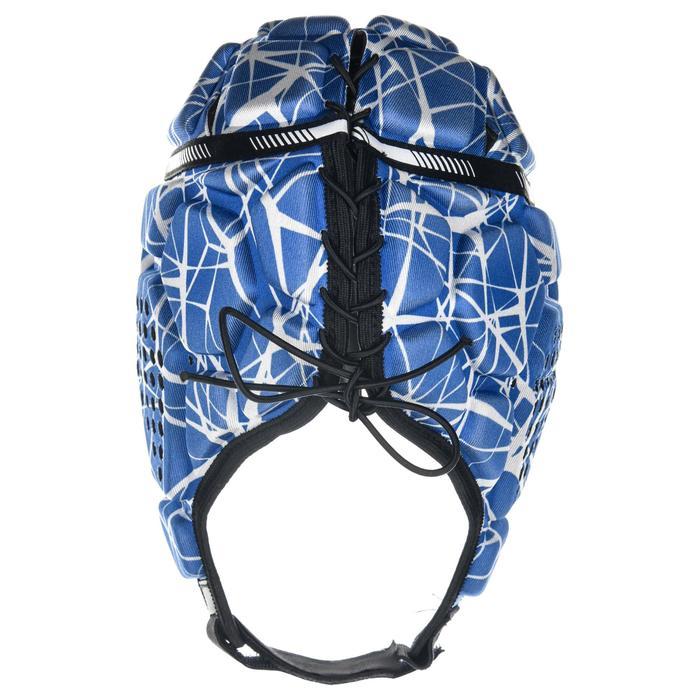 Kopfschutz Rugby R500 blau/weiß