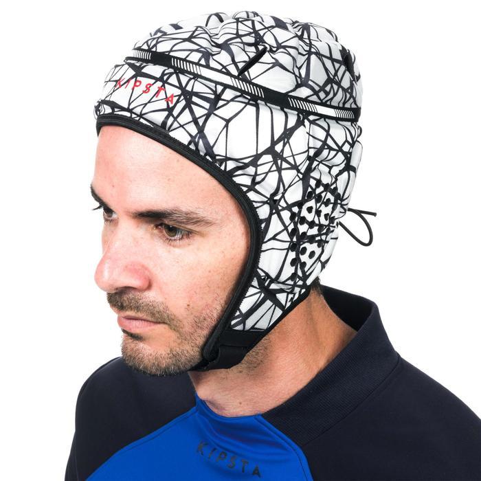 Kopfschutz Rugby R500 blau/gelb