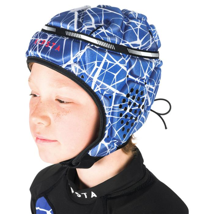 Scrumcap R500 kinderen blauw wit